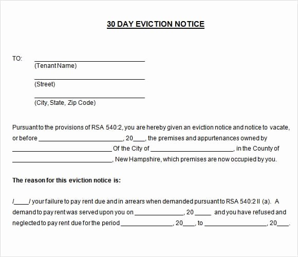 30 Day Eviction Notice Template Awesome 24 Free Eviction Notice Templates Excel Pdf formats
