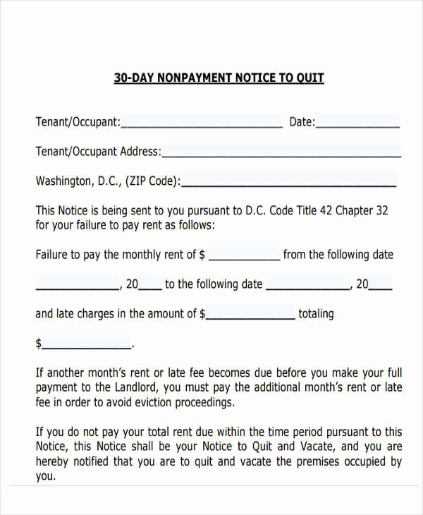 30 Day Eviction Notice Template Fresh 32 Eviction Notice Templates Pdf Google Docs Ms Word
