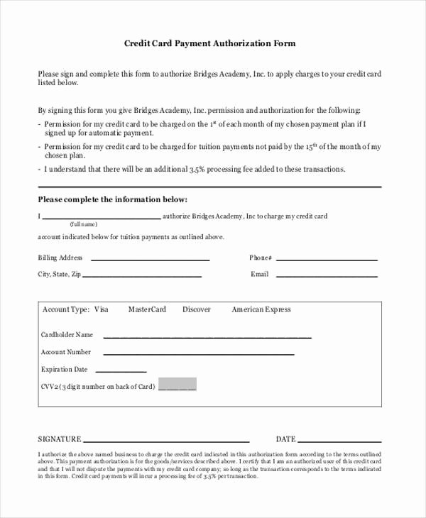 3rd Party Authorization form Template Inspirational Blank Authorization forms