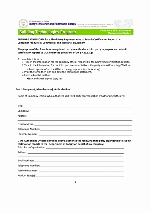 3rd Party Authorization form Template New top 5 Third Party Authorization form Templates Free to