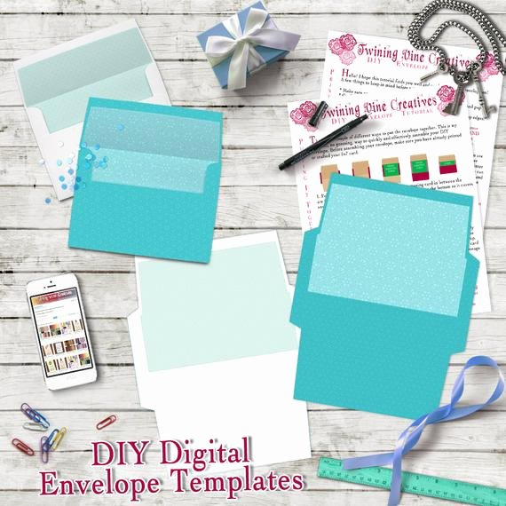 5x7 Envelope Template Word Luxury Diy Envelope Template A7 5x7 Envelope Template Digital