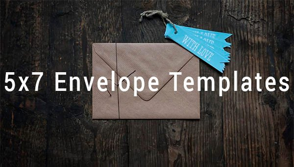 5x7 Envelope Template Word New 5x7 Envelope Templates 8 Free Printable Word Psd Pdf