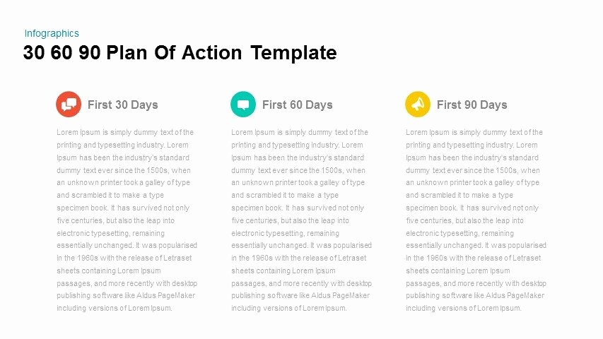 90 Day Action Plan Template Beautiful 30 60 90 Plan Action Powerpoint and Keynote Template