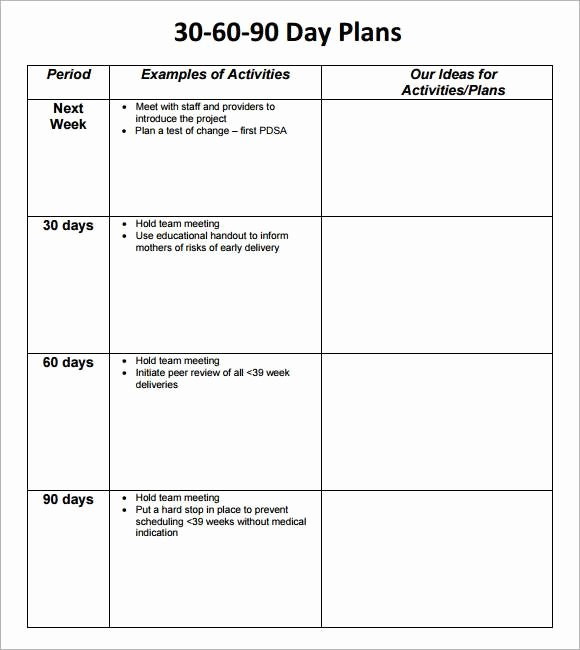90 Day Action Plan Template Best Of Free 17 30 60 90 Day Action Plan Templates In Pdf