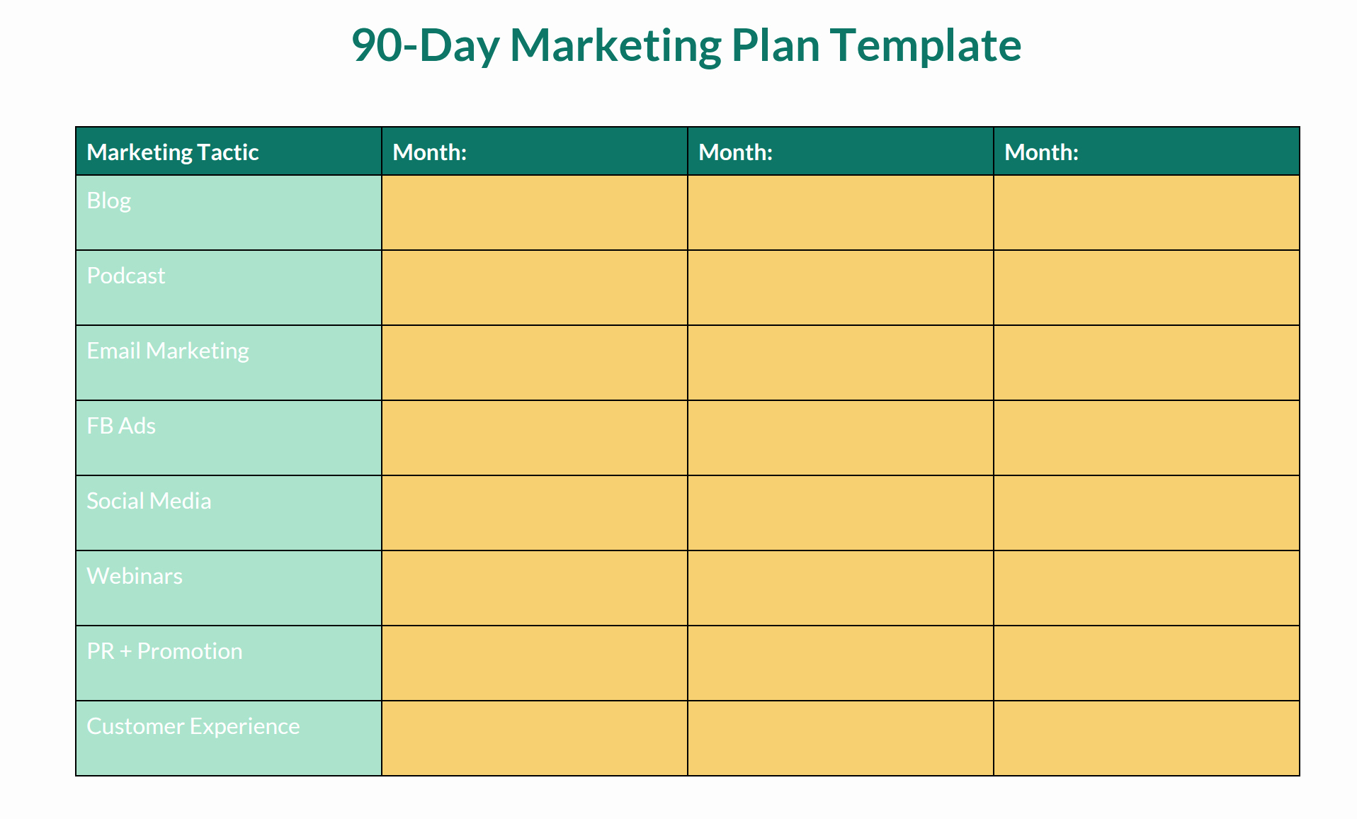 90 Day Action Plan Template Inspirational Quit Dabbling Start Doing Creating Your Line Marketing