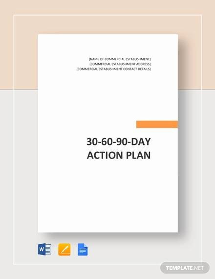 90 Day Action Plan Templates Best Of 30 60 90 Day Action Plan 12 Documents In Pdf Word