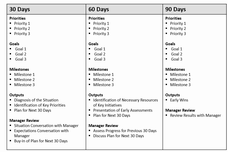 90 Day Action Plan Templates Elegant First 90 Day Plan Template