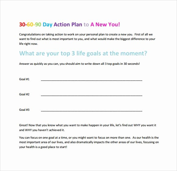 90 Day Action Plan Templates Unique 20 Sample 30 60 90 Day Plan Templates In Google Docs