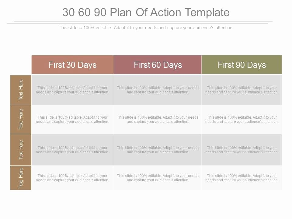 90 Days Action Plan Template Awesome 30 60 90 Plan Action Template Powerpoint Templates