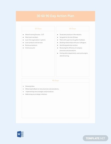 90 Days Action Plan Template Awesome Free Health and Safety Manual Template Download 56 Plans