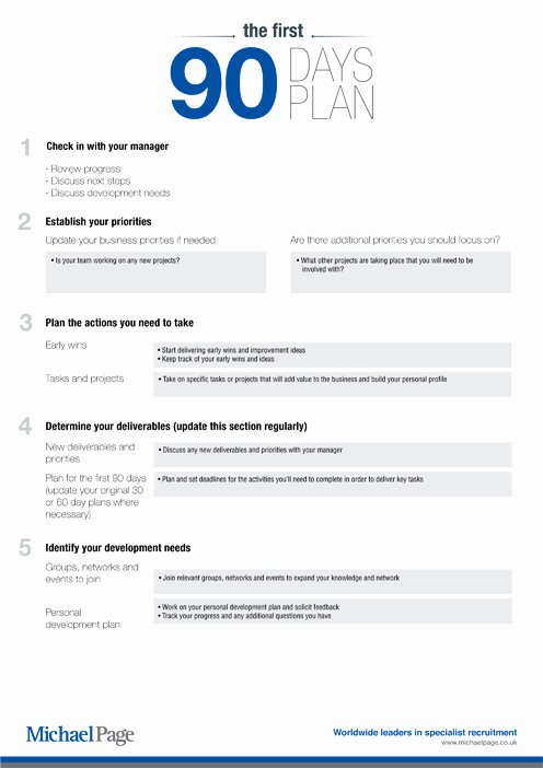 90 Days Action Plan Template Awesome the First 90 Days A Able Template and Guide