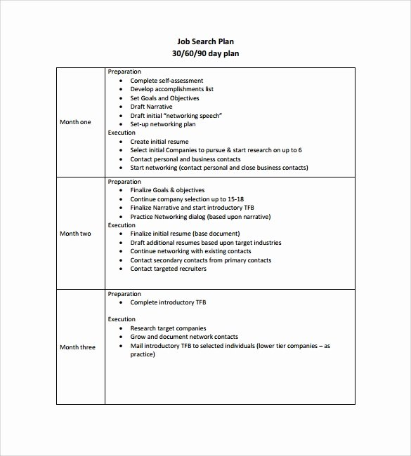 90 Days Action Plan Template Beautiful 90 Day Plan Template