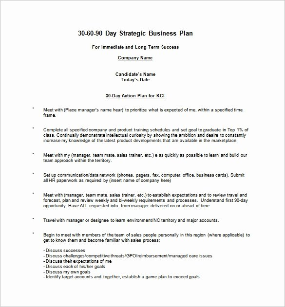 90 Days Action Plan Template Best Of 30 60 90 Day Action Plan Template