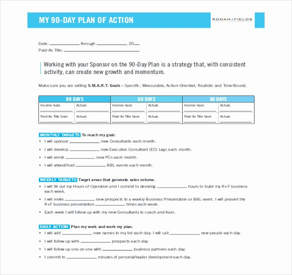 90 Days Action Plan Template Elegant 22 30 60 90 Day Action Plan Templates Free Pdf Word
