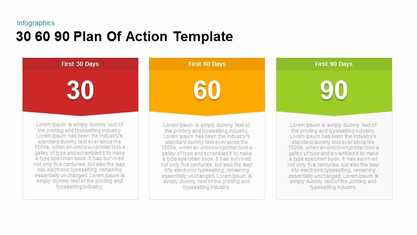 90 Days Action Plan Template Fresh 30 60 90 Plan Action Powerpoint and Keynote Template