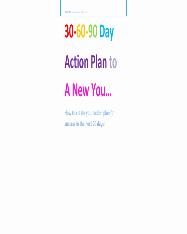 90 Days Action Plan Template Luxury 2019 30 60 90 Day Plan Fillable Printable Pdf & forms