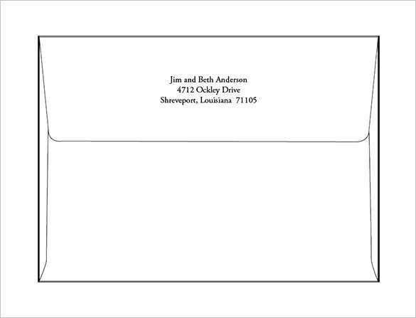 A2 Envelope Template Word Best Of 9 A7 Envelope Templates Doc Psd Pdf