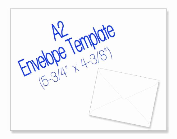 A2 Envelope Template Word Elegant Printable A2 Envelope Template Size 53 4 X by