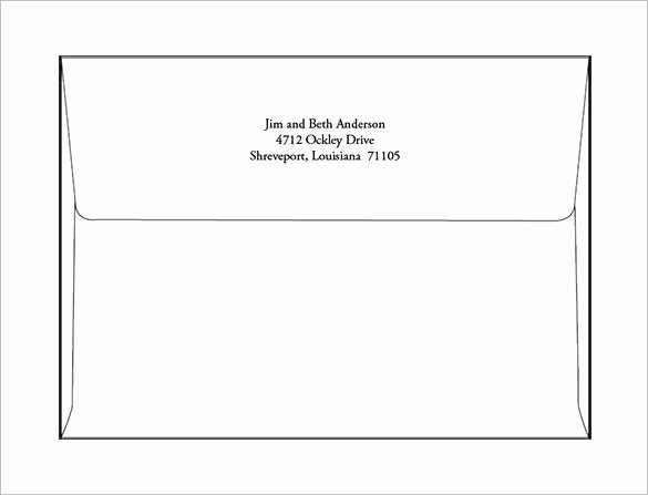 A2 Envelope Template Word Inspirational A7 Envelope Templates – 11 Free Printable Word Psd Pdf