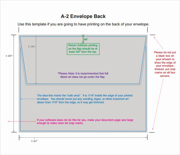 A2 Envelope Template Word Lovely A2 Envelope Template 7 Download Free Documents In Pdf