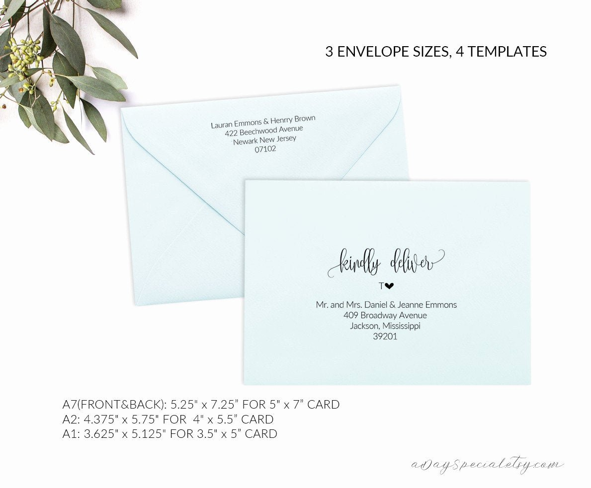 A2 Envelope Template Word Lovely Printable Envelope Template Editable Envelope Template A7