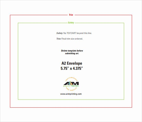 A2 Envelope Template Word Lovely Sample A2 Envelope Template 7 Documents In Word Pdf