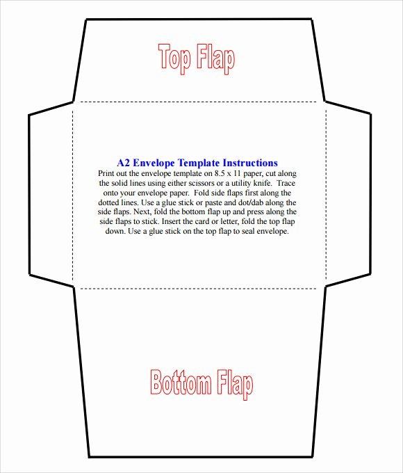 A2 Envelope Template Word Luxury Sample A2 Envelope Template 7 Documents In Word Pdf