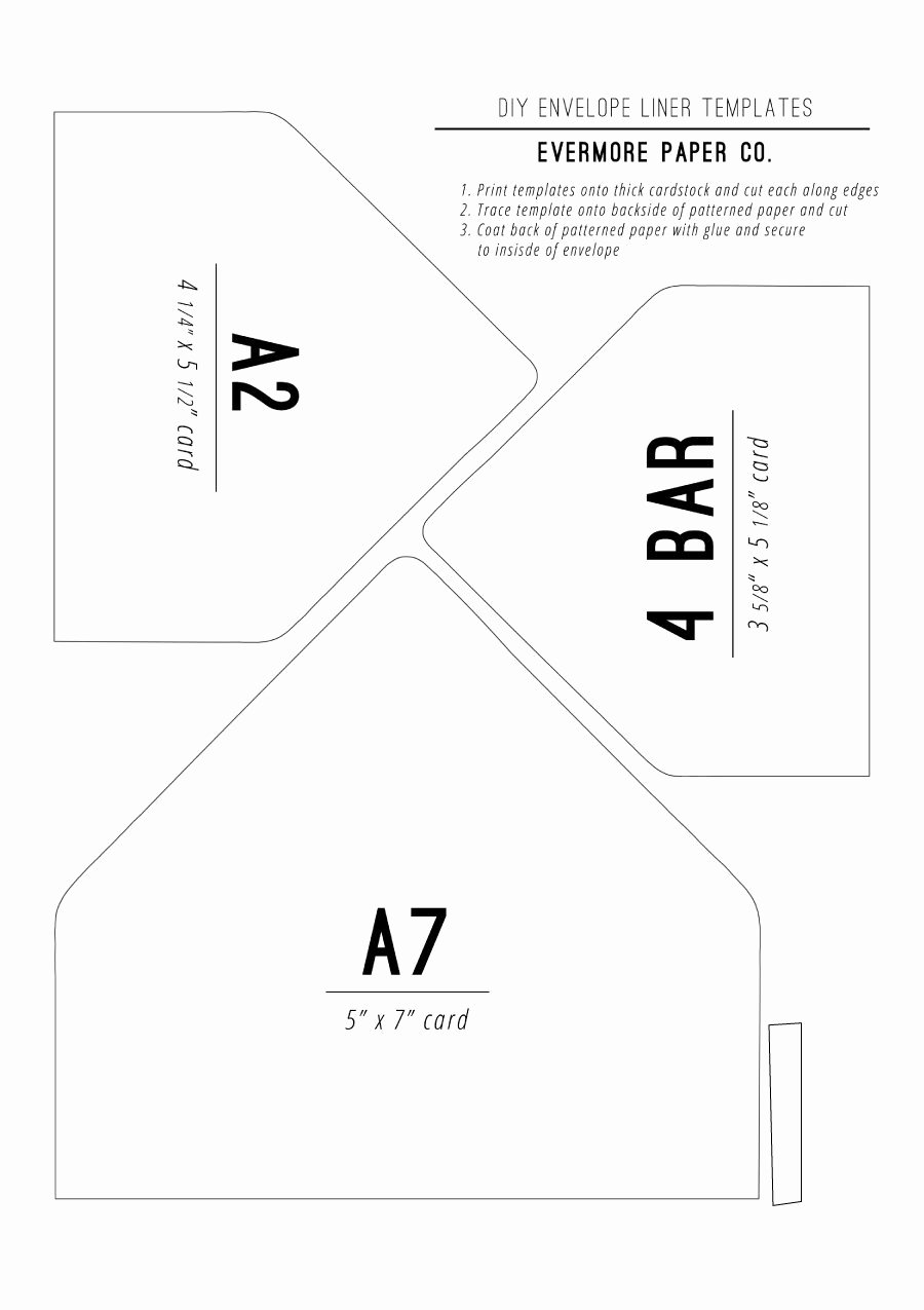 A7 Envelope Liner Template Awesome 40 Free Envelope Templates Word Pdf Template Lab