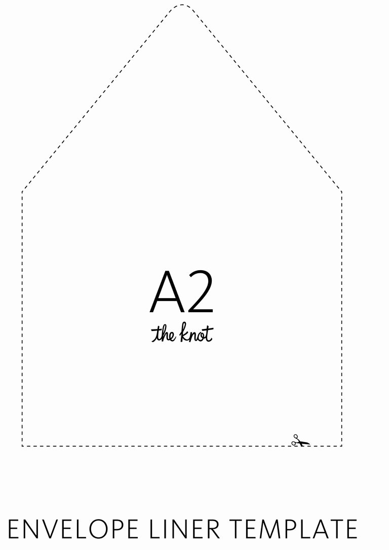 A7 Envelope Liner Template Beautiful the Knot Envelope Liner Template