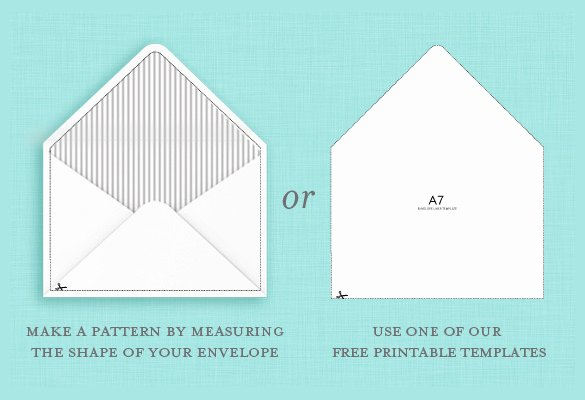 A7 Envelope Liner Template Best Of 9 A7 Envelope Templates Doc Psd Pdf
