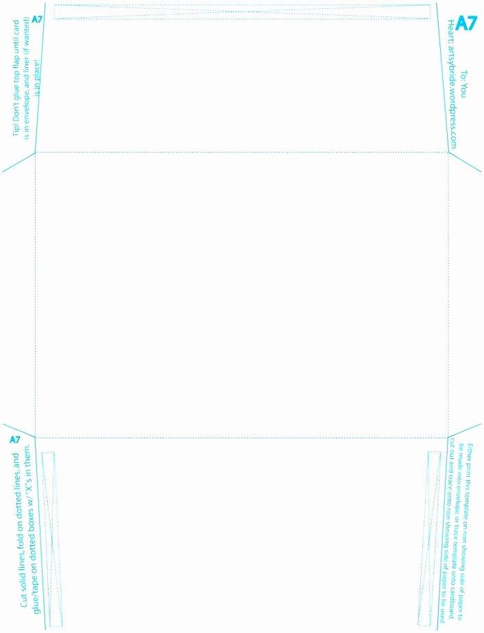 A7 Envelope Liner Template Elegant 6 A7 Envelope Printing Template Doeeo