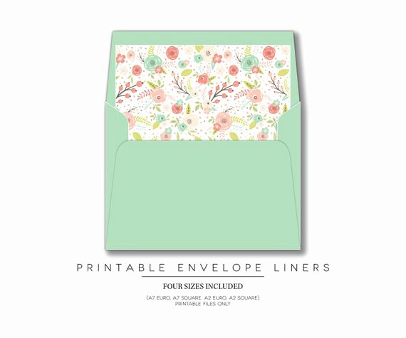 A7 Envelope Liner Template Fresh Printable Envelope Liners Invitations Envelope Liners