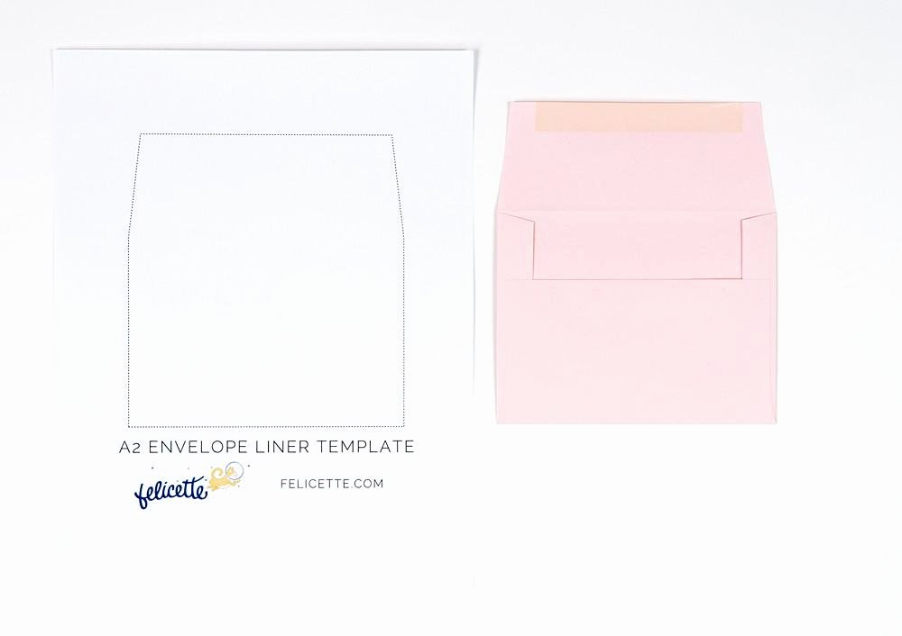 A7 Envelope Liner Template Fresh Stamped Envelope Liners Templates – Felicette