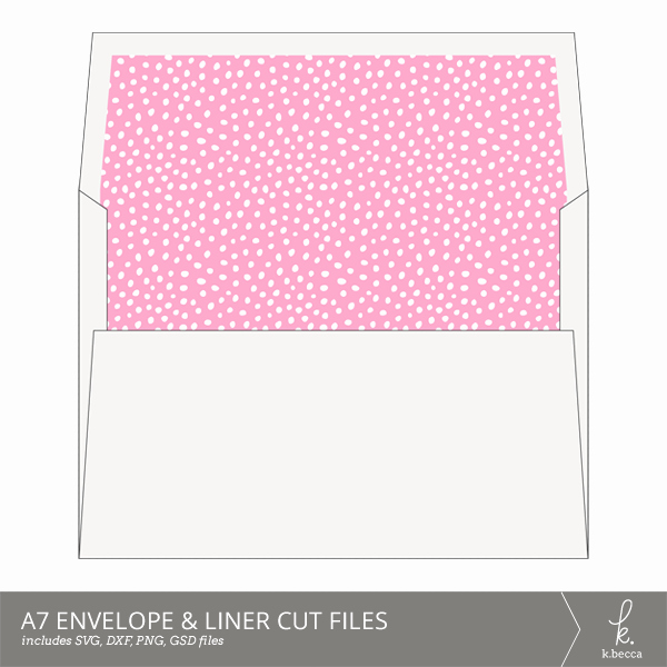 A7 Envelope Liner Template Luxury A7 Envelope & Liner Cut Files 5x7 Cards Svg Included