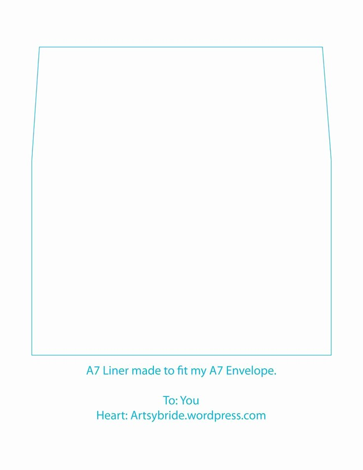 A7 Envelope Liner Template Unique A7 Envelope Template