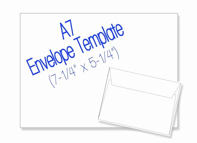 A7 Envelope Template Word Best Of A7 Envelope 7 1 4 X 5 1 4 Blank by Heritageexpressions On Etsy
