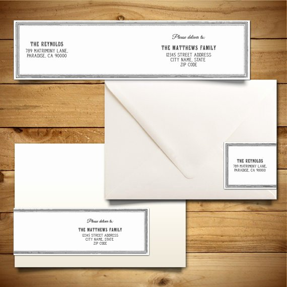 A7 Envelope Template Word Best Of Printable Wrap Around Address Label Template for A7
