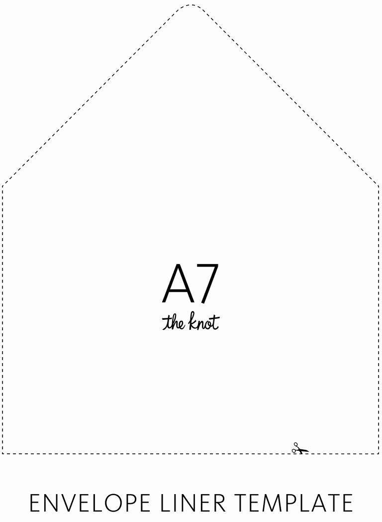 A7 Envelope Template Word Inspirational the Knot Envelope Liner Template