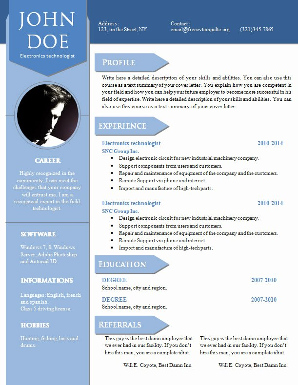 Academic Cv Template Word Beautiful Curriculum Vitae Resume Word Template 904 – 910
