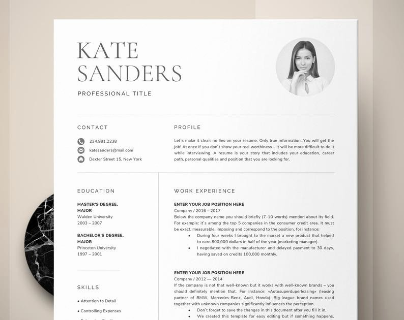 Academic Cv Template Word Elegant Cv Template Resume Template with Professional Resume