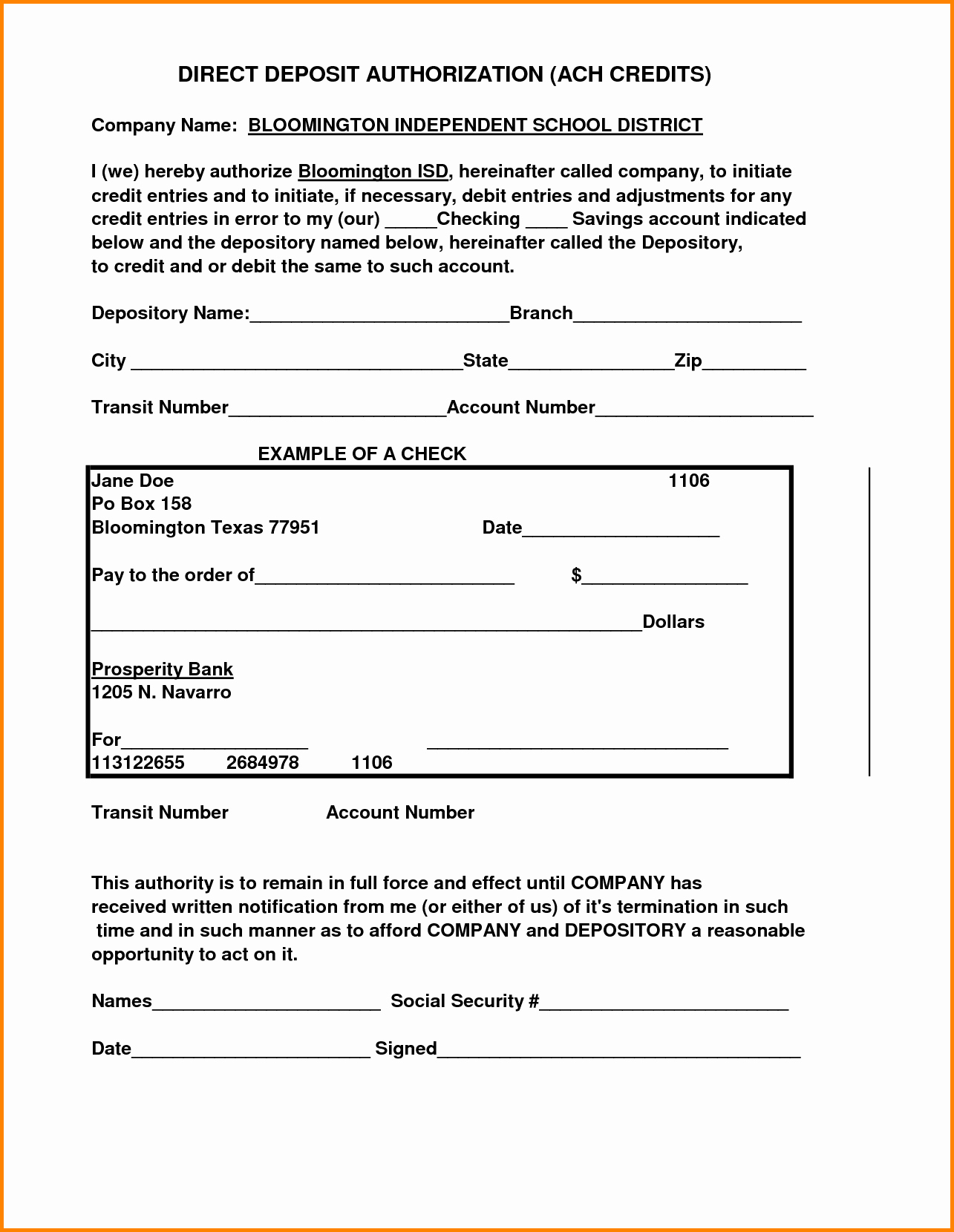 Ach Deposit Authorization form Template Best Of 30 Of Free Ach Authorization form Template