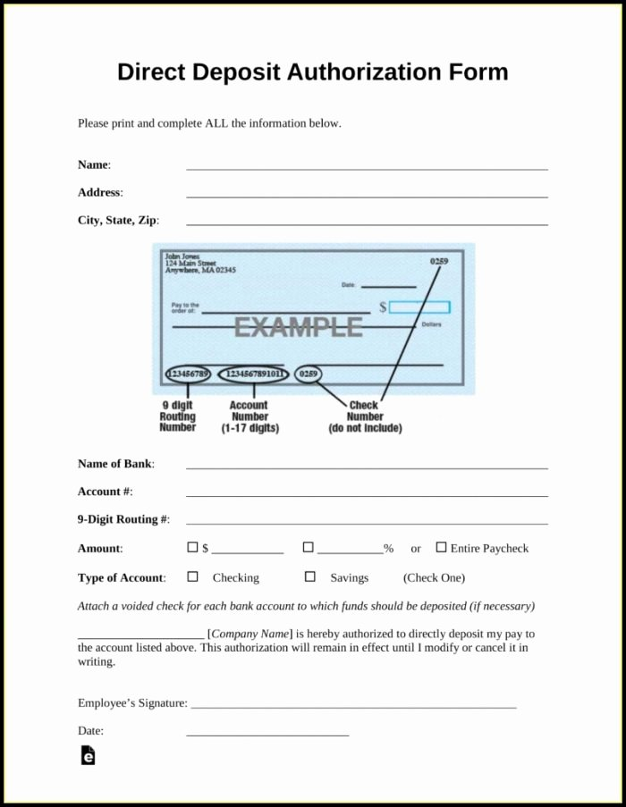 Ach Deposit Authorization form Template Fresh Ach form Template Templates 1 Resume Examples