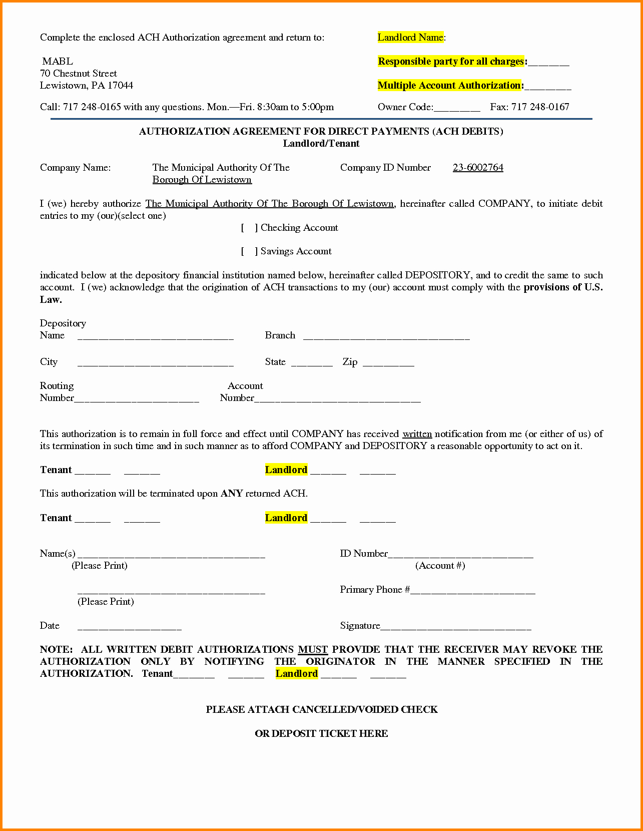 Ach Deposit Authorization form Template Lovely 30 Of Free Ach Authorization form Template