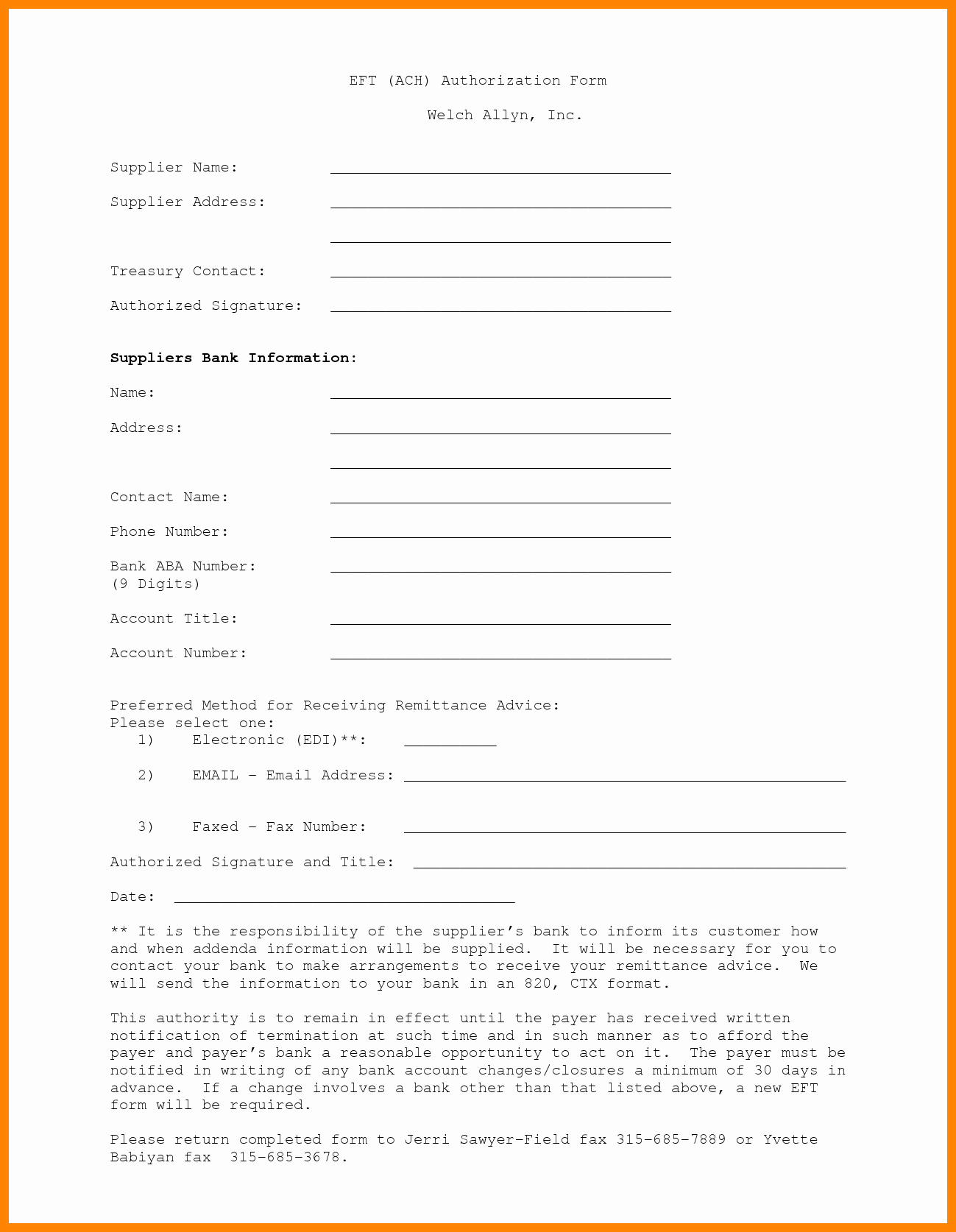 Ach Deposit Authorization form Template Luxury 10 Ach Payment form Template