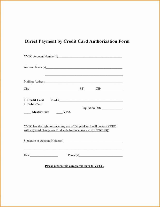 Ach Deposit Authorization form Template Luxury Ach form Template