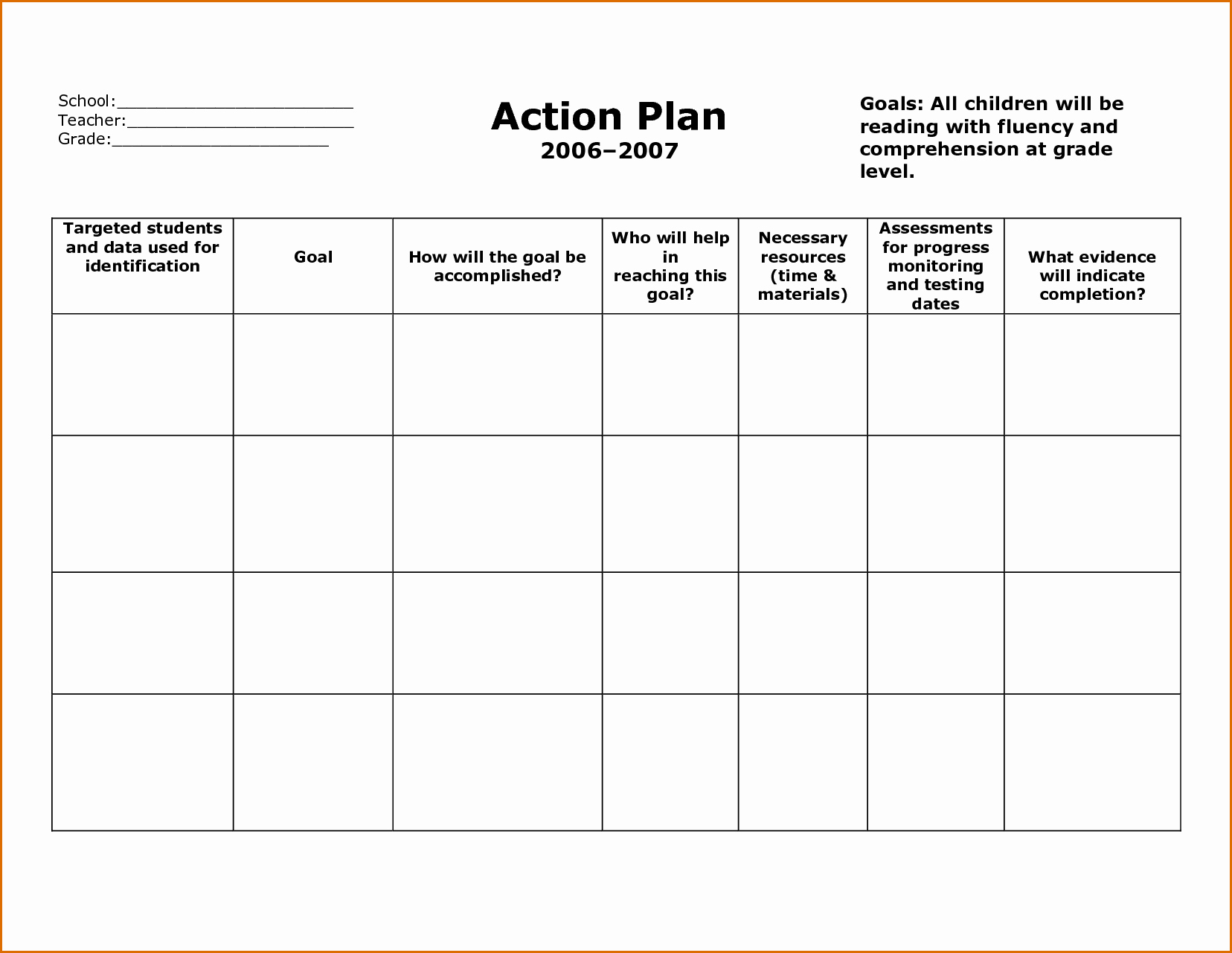 Action Plan Template Word Fresh 7 Action Plan Template Word