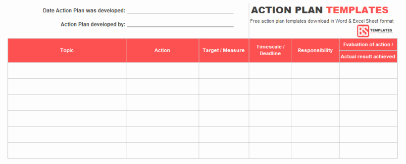 Action Plan Template Word Inspirational Action Plan Templates – Free Templates [word