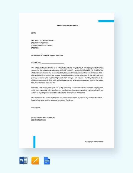 Affidavit Of Support Template Inspirational 12 Affidavit Samples Doc Pdf