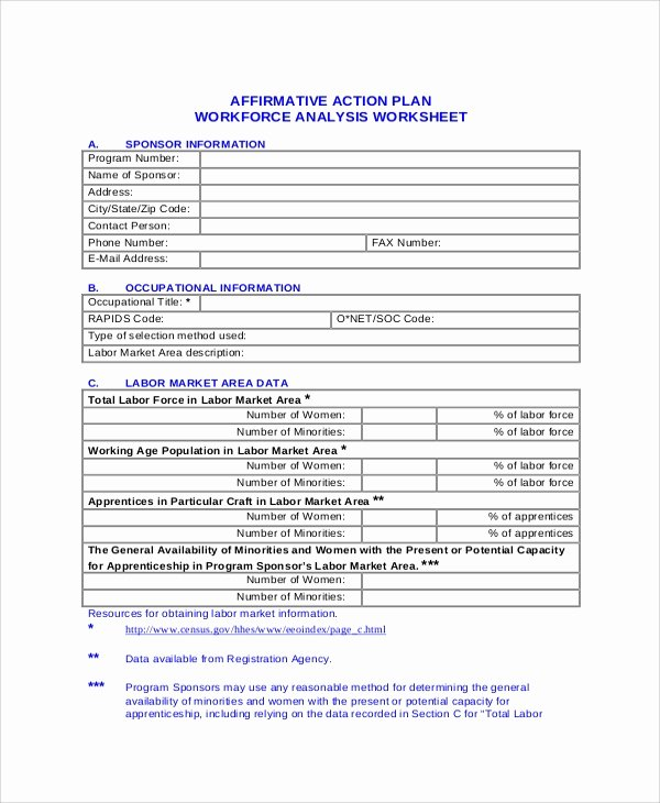 Affirmative Action Plan Template Best Of Sample Action Plans 46 Examples In Pdf Word