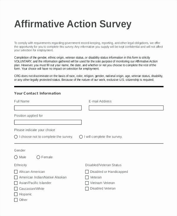 Affirmative Action Plan Template Inspirational Affirmative Action Plan Template for Small Business